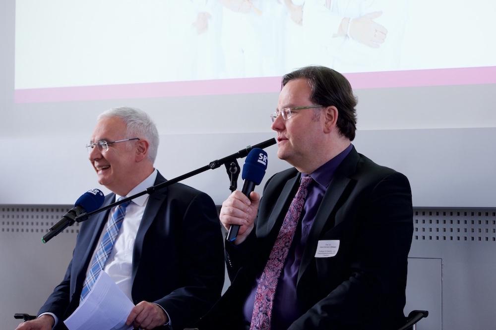 Prof. Dr. Dirksen im Interview mit dem SR Fernsehen.